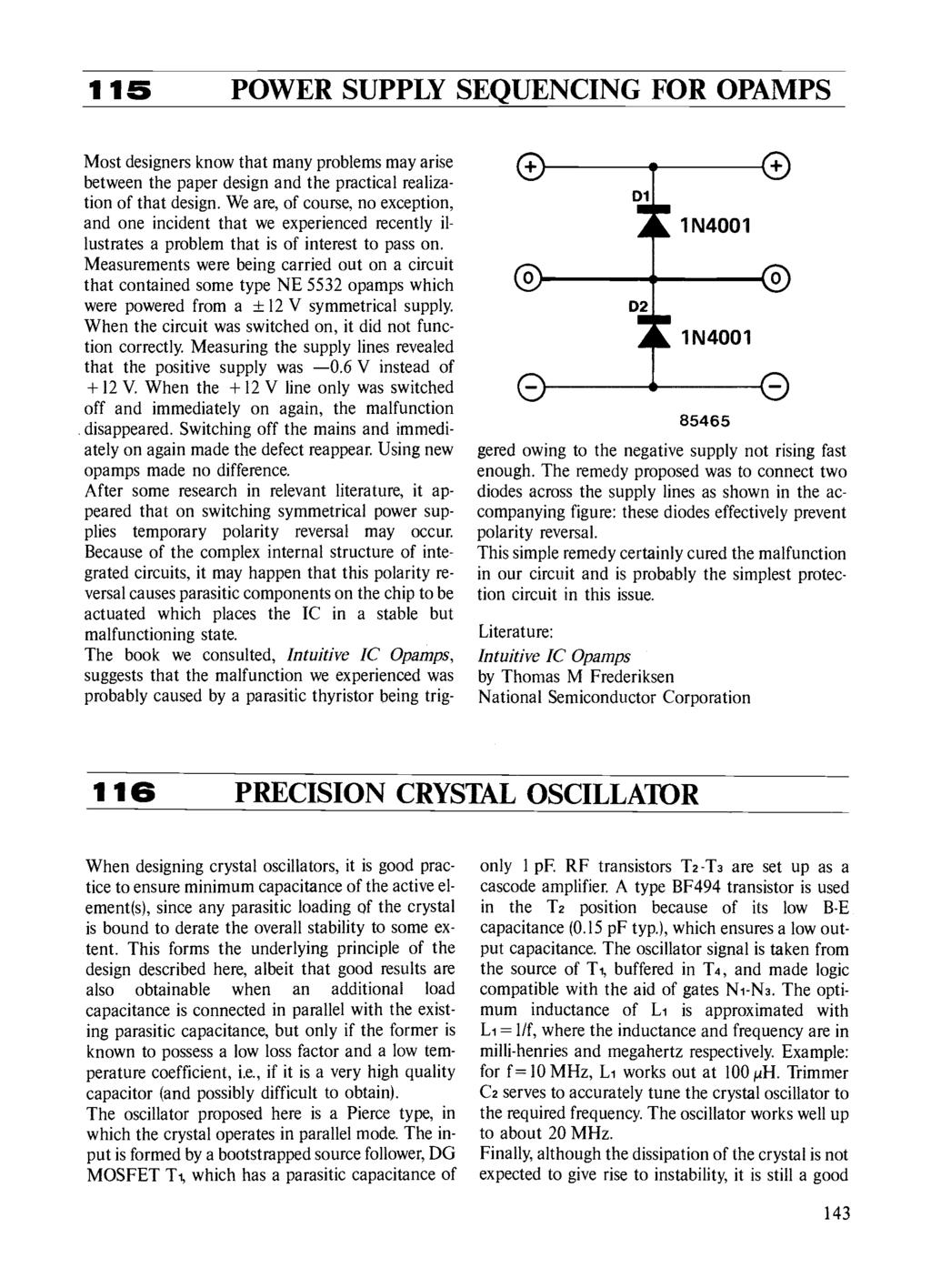 Circuits Elektor Electronics Pdf Levels 78xx Series Ics May Be Employed With The Above Explained Power 115 Supply Sequencing For Opamps Most Designers Know That Many Problems Arise Between