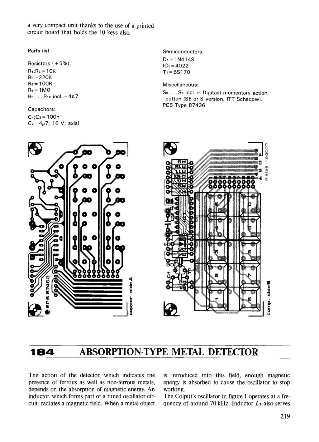 Circuits Elektor Electronics Pdf Metal Detector Circuit Explanation When The Lc That Is L1 And