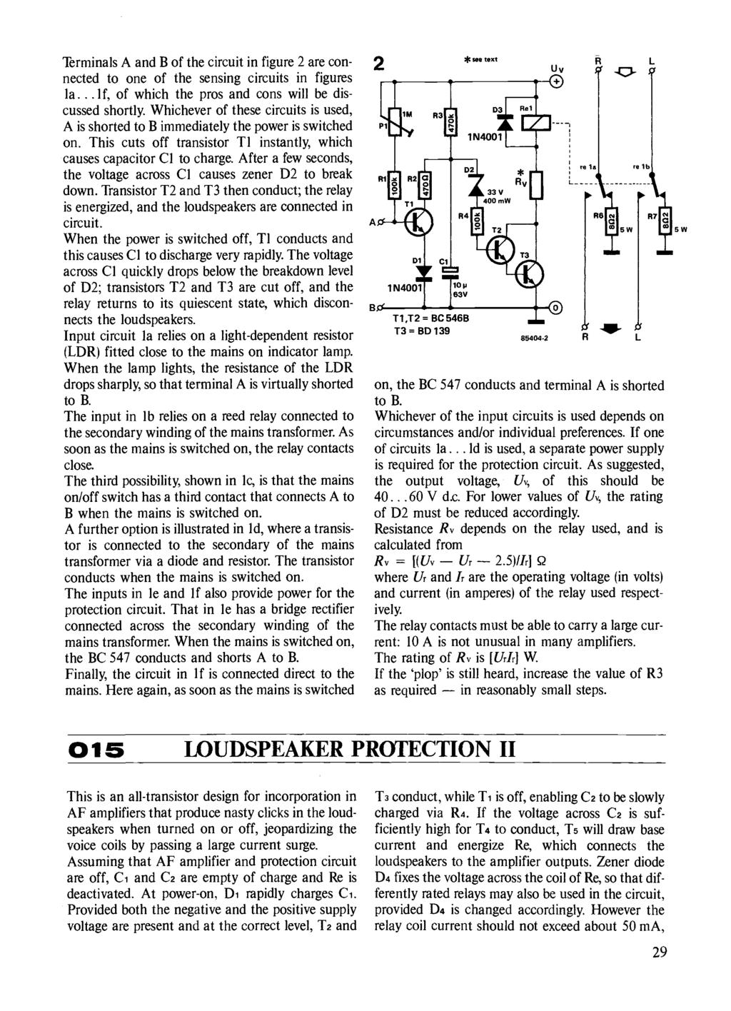 Circuits Elektor Electronics Pdf Circuit The Relay Switch 4 7k 9v As Aug Ldr A To Light Terminals And B Of In Figure 2 Are Connected One