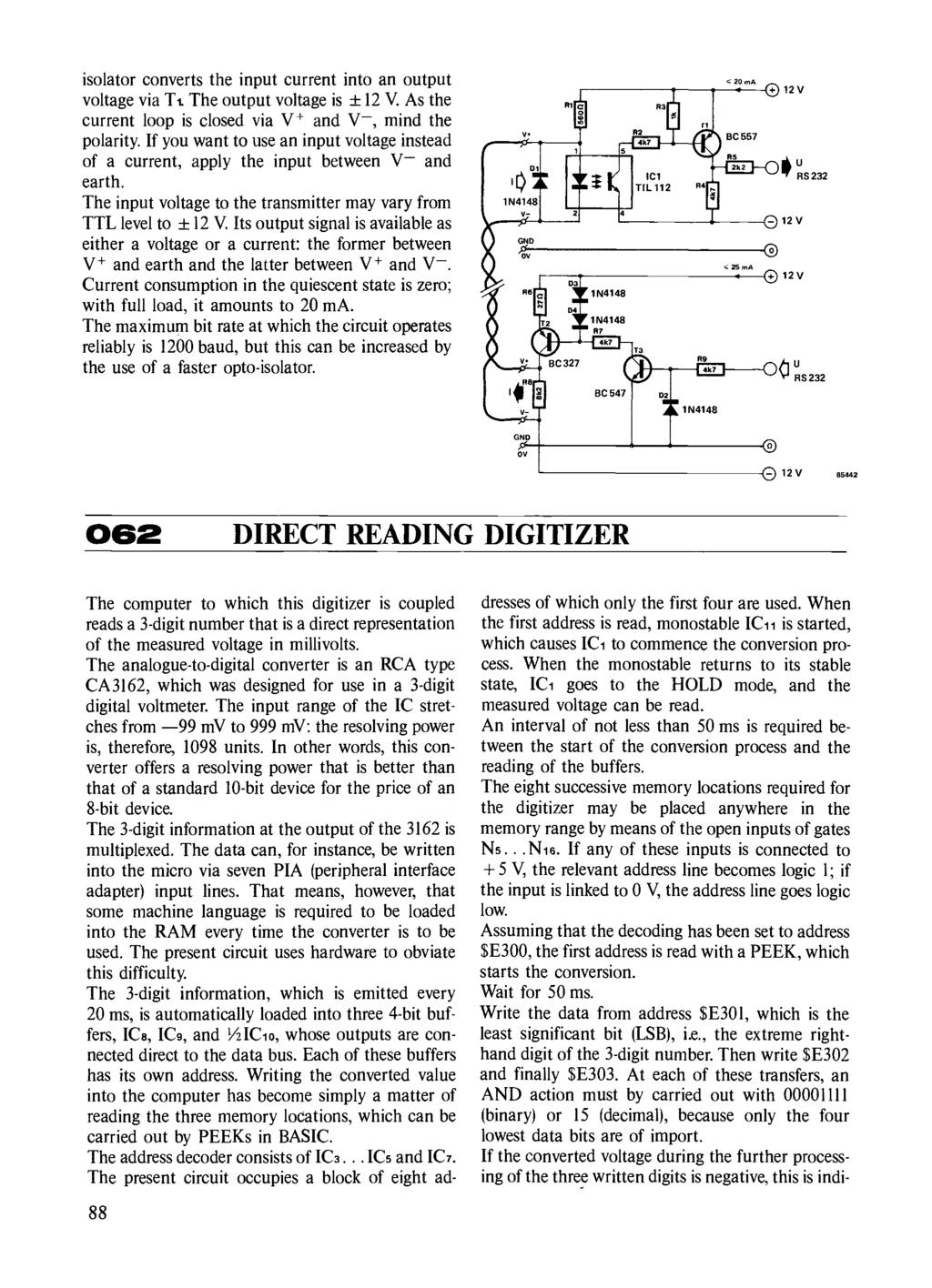 Circuits Elektor Electronics Pdf Beautiful Car Brake Lights By Bc327 Isolator Converts The Input Current Into An Output Voltage Via T