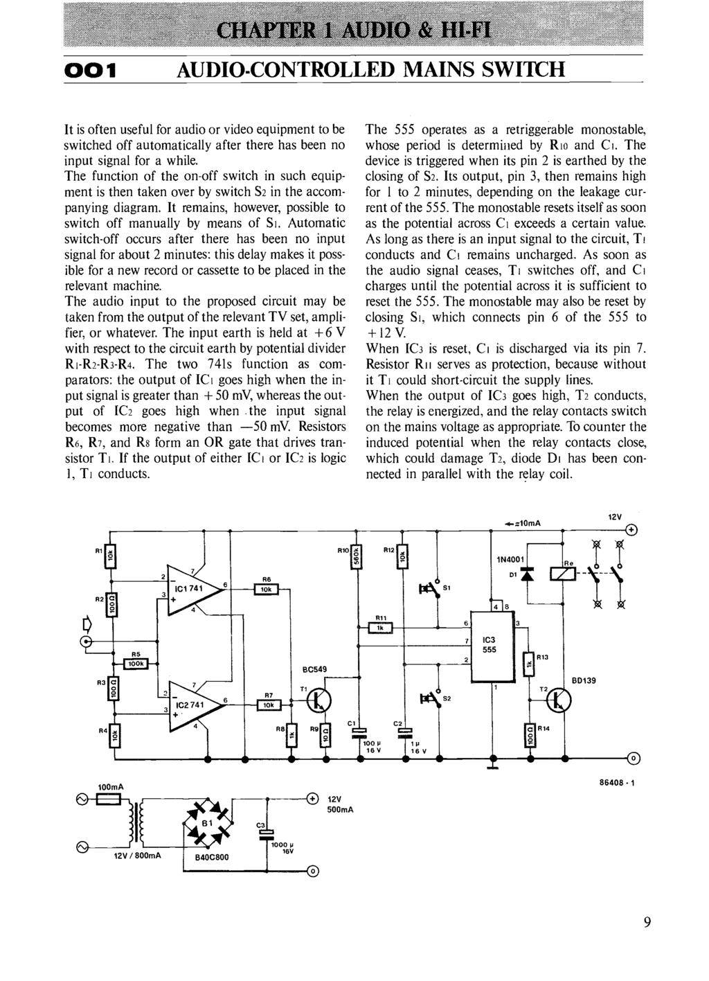 Circuits Elektor Electronics Pdf Ca3162 Handheld Voltmeter Circuit Diagram Chapter I Audio 8 1 Controlled Mains Switch It Is Often Useful