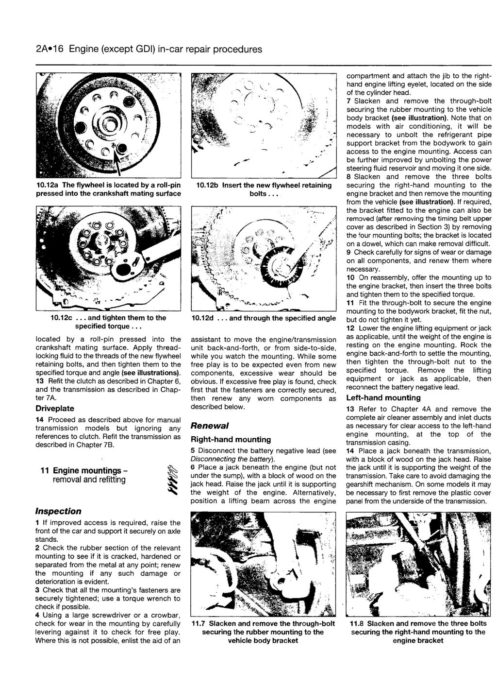 Mmm Haynes Service And Repair Manual 1996 To Mar 2004 N Push The Meter Into Black Mounting Flange From Back Until It 2a16 Engine Except Gdi In Car Procedures 1012a