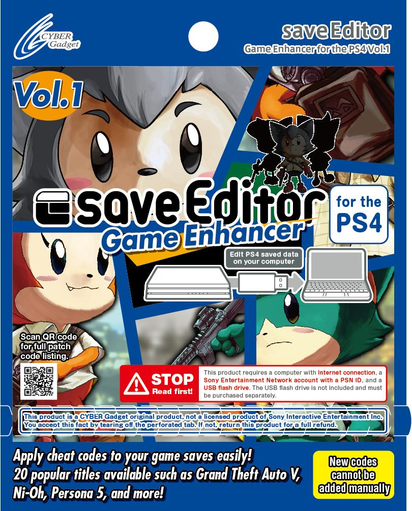 saveeditor Game Enhancer for the PS4 vol 1 Instructions