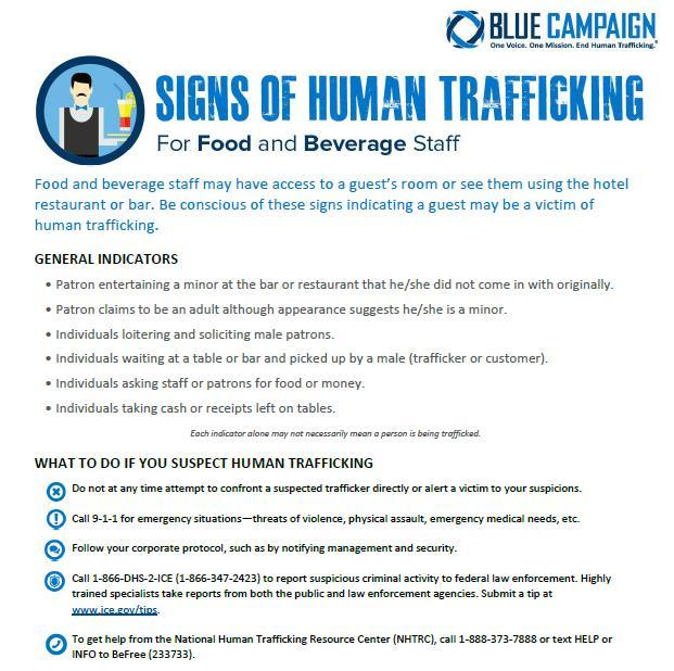 Sex Trafficking: The Hospitality Industry s Role and