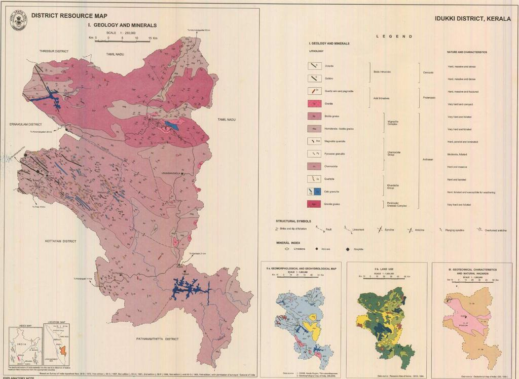 DISTRICT SURVEY REPORT OF MINOR MINERALS (EXCEPT RIVER SAND