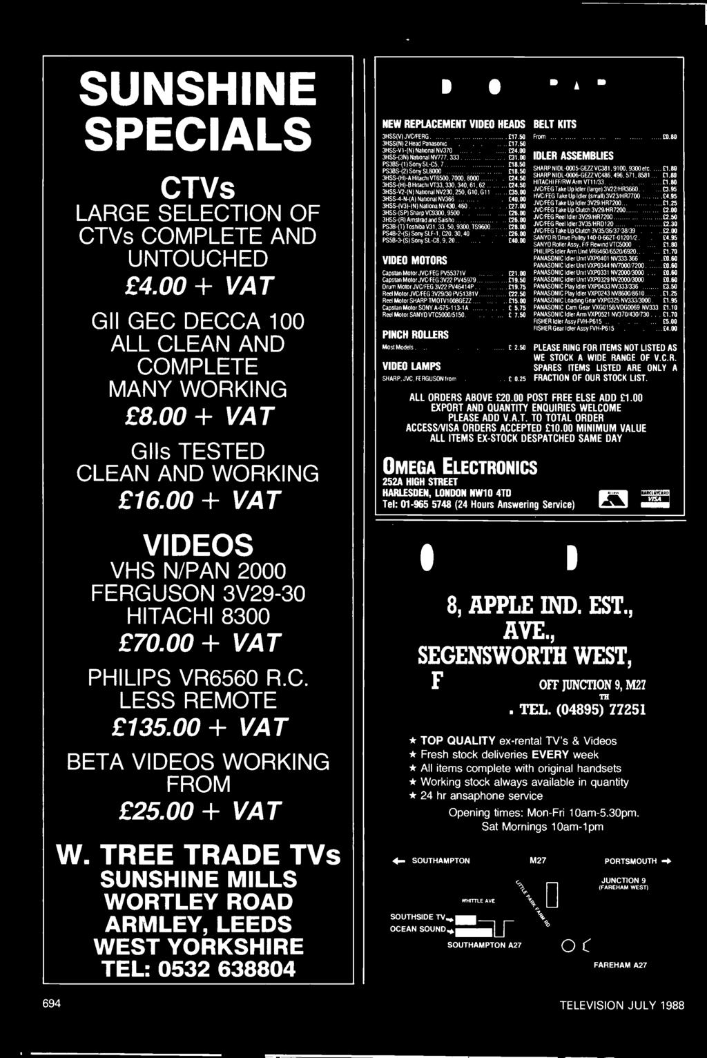 Digital Video Effects Servicing With A Variac Pdf Wiring Diagram Jvc Kd S16 Besides Car Stereo Also Tree Trade Tvs Sunshine Mills Wortley Road Armley Leeds West Yorkshire Tel 0532 638804