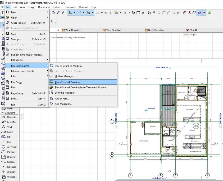 Design of a Single Family House Using BIM Software Modelling on