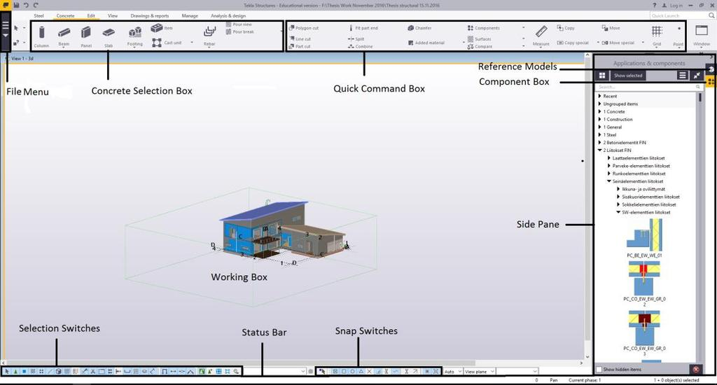 Design of a Single Family House Using BIM Software Modelling