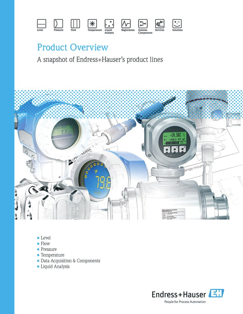 Product Overview  A snapshot of Endress+Hauser s product lines - PDF