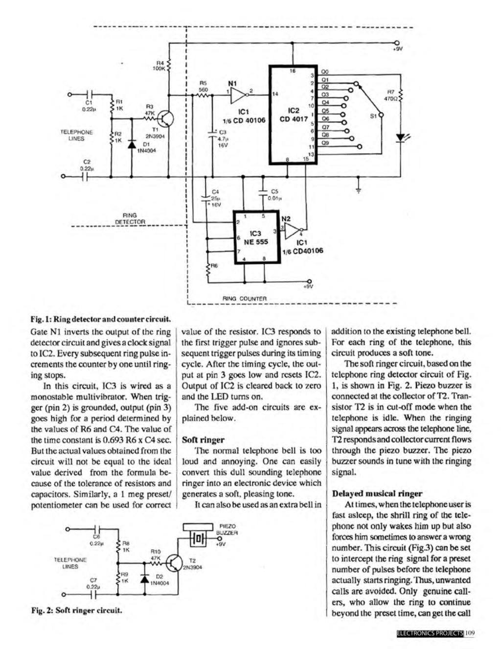 A Compilation Of 102 And Circuit Ideas For Construction Projects Clock Pulse Generator With Cd4049 Diagram 1 Ring Delector Counter Gate N1 Inverts The Output