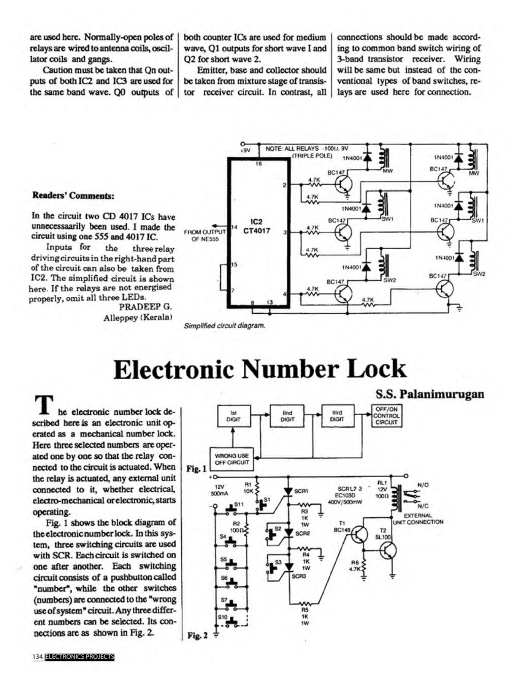A Compilation Of 102 And Circuit Ideas For Construction Projects Clap Switch Using Transistors Electronic Enthusiasts Tested Professionals Pdf