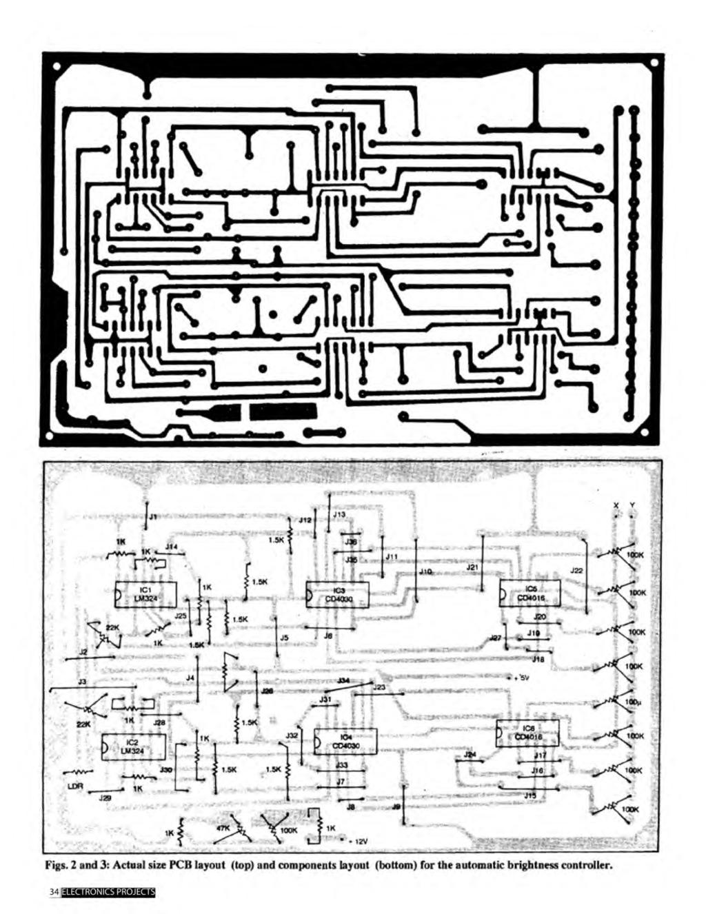 A Compilation Of 102 And Circuit Ideas For Construction Projects Lm324 1khz Bandpass Filter Electronic Circuits Schematics Diagram Figs 2 3 Actual Size Pcb Layout Top Components