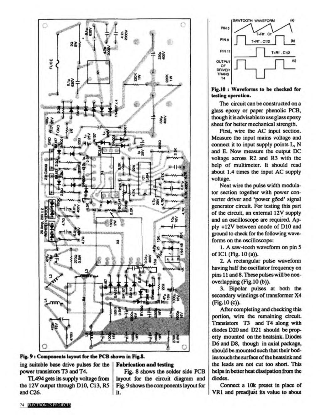A Compilation Of 102 And Circuit Ideas For Construction Projects What Do The Resistors In This With An Lm2917 Lm3915 Fig 10 Testing Operation