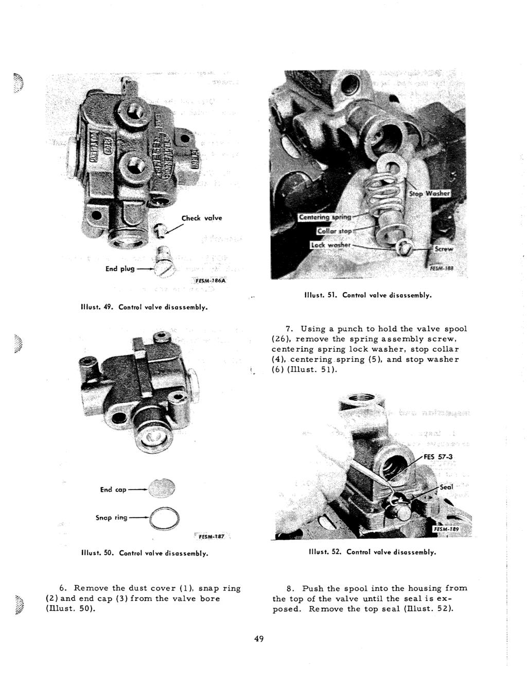 Service Manual 434 B434 Pdf Control System For An On 424 International Tractor Hydraulics Diagram Valve Di Sassembly Liiust 51 Disassembly