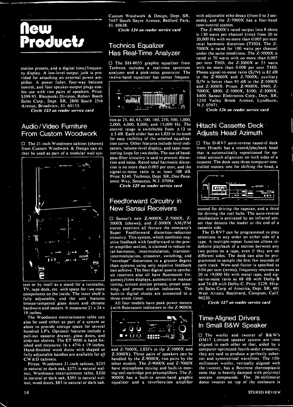 E J How To Deal With Your Audio Dealer Use An Equalizer For Better 30w Stereo Power Amplifier Based Tda 1521 Circle 124 On Reader Service Card Technics Has Real Time Analyzer 0 The Sh