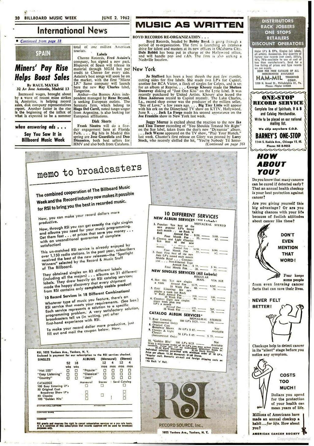 Wee N Music Phonograph Ndising Radio Tv Pro Amming Coin Machine Introduction To Electronics Dc Ac Circuits Stephen C Harsany 20 Billboard Week June 2 1962 International News Contained From Page 18 Miners