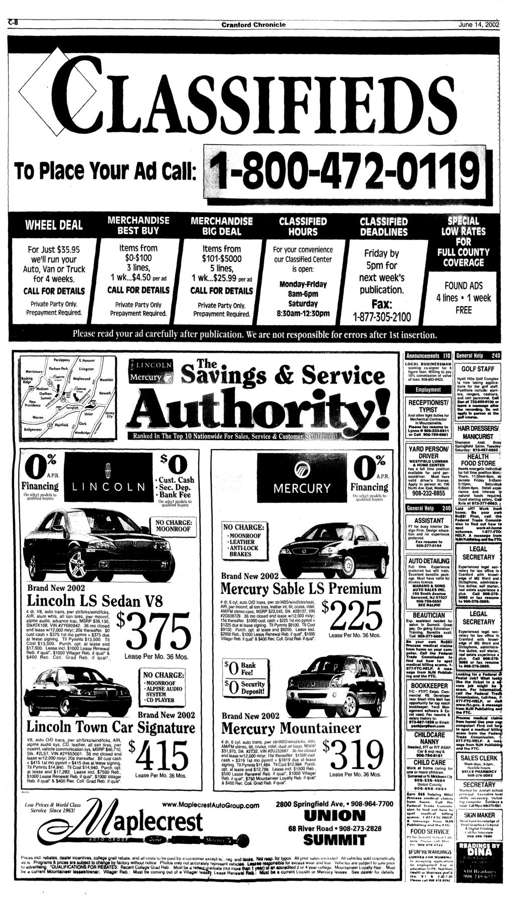 Teen Jailed In Cranford Shooting Woman Holding Toddler Is Shot Air Conditioning Four Season System Vacuum Diagram C K Models For 1979 Gmc Light Duty Truck Series 10 35 Chronicle June 14 2002 Lassifieds To Place Your Ad Call 800472 0119