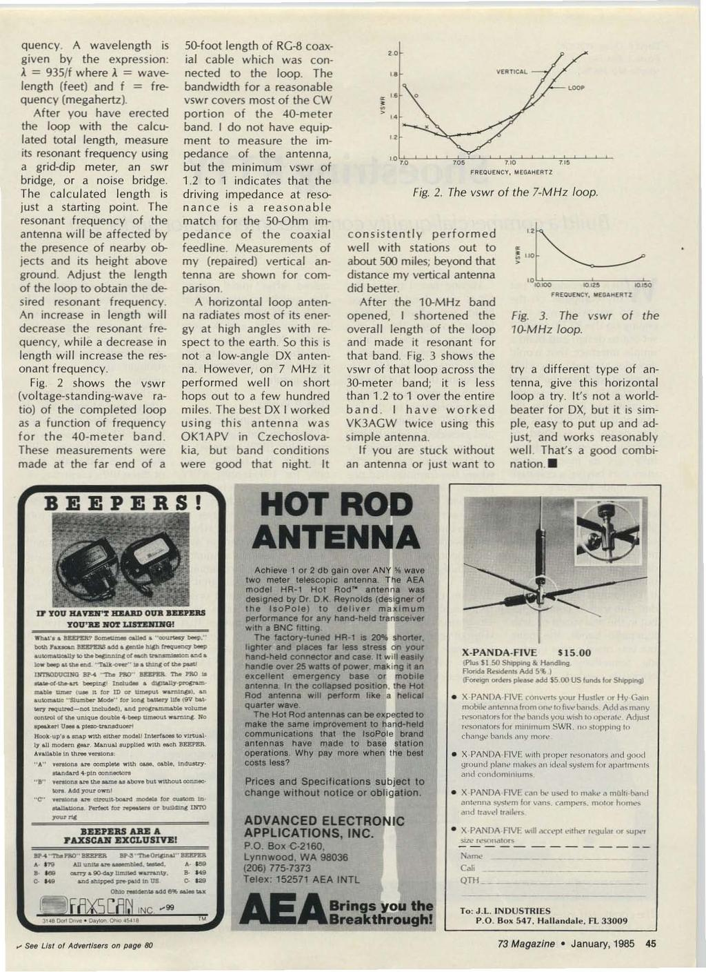 Amateur Radios Technical Journal Pdf Xl Data Hodrod Rp 50000 Quency A Wavelength Is Give N By The Expressionl 935ff