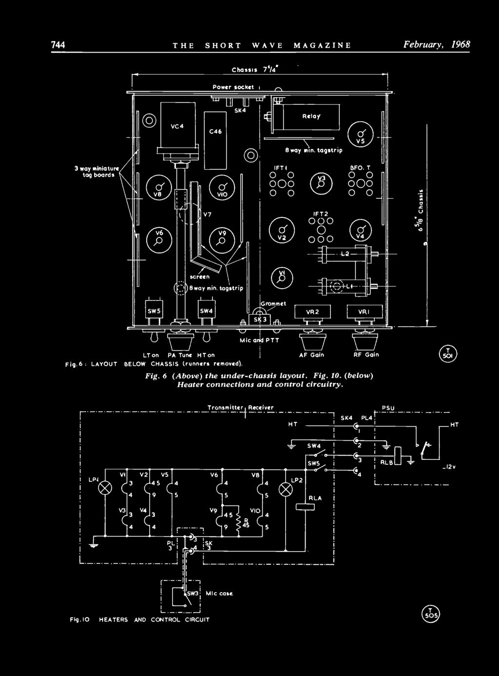Kw Electronics Ltd No Price Increase On Any Equipment Kw2000a Windsor Rapid Caravan Wiring Diagram I 0 744 The Short Wave Magazine February 1968 Chassis 7t