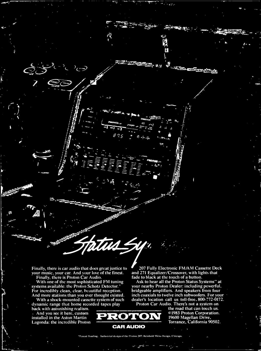 October 1983 Pdf 210hz Subwoofer Processing Circuit Low Pass Filter Board Kit At The Touch Of A Button Sk To Hear All Roton Status Systems
