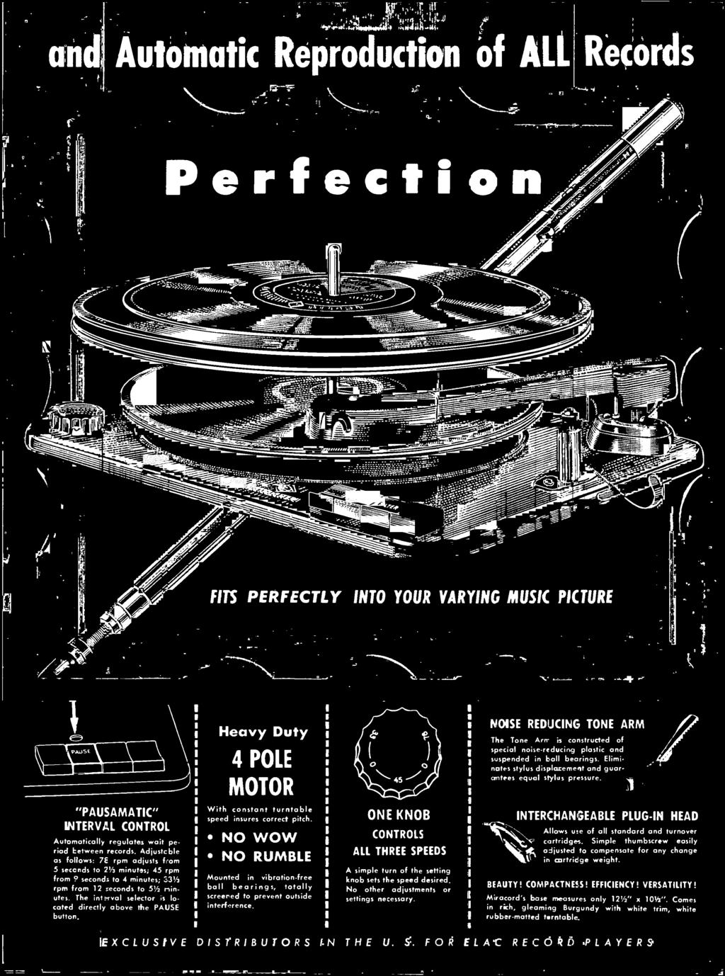 Collectibles Dedicated 1956 Rockbar Collaro Rc-54 Hi-fi Turntable Record Player Changer Vtg Print Ad Lovely Luster