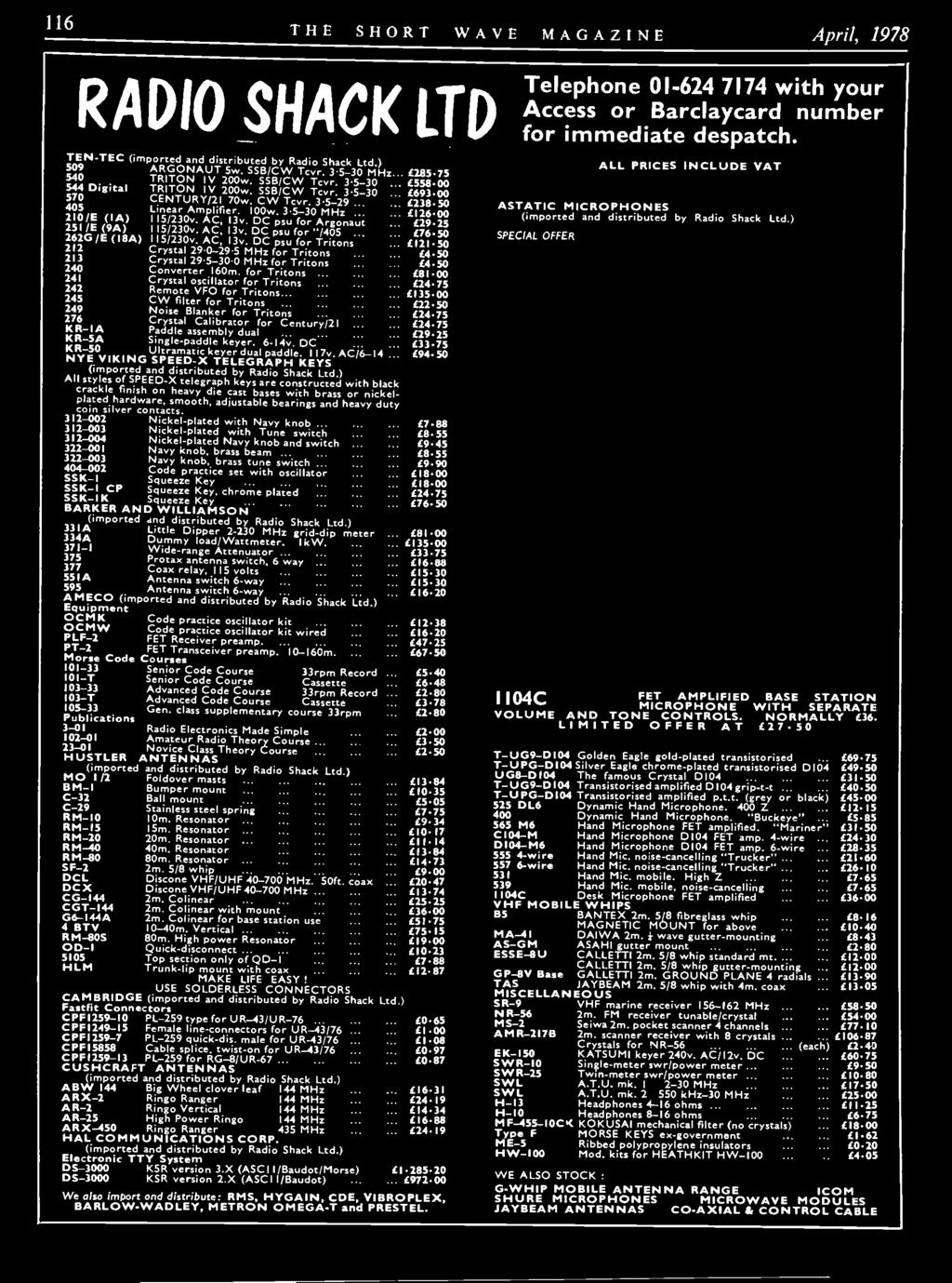 Vol Xxxvi April 1978 Number 2 Pdf Fet Preamp With Tone Control By 2n3819 Dc Psu For Argonaut 251 E 9a L2925