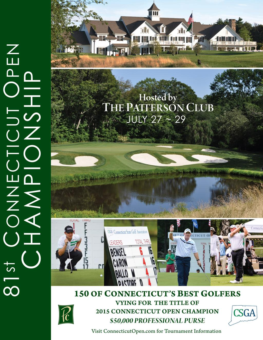 2015 Media Guide  81 st Connecticut Open Championship  The