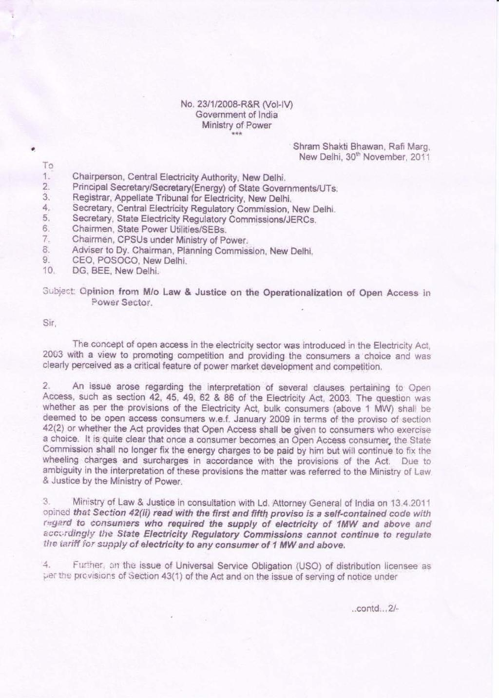 Subject: High Level Panel on financial position of