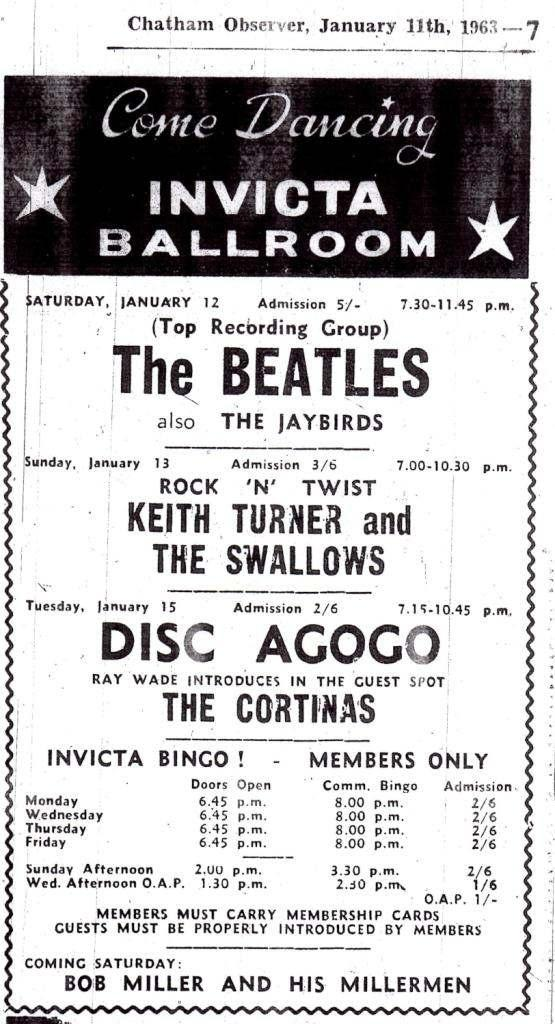 Bildresultat för the beatles at the invicta Ballroom Kent