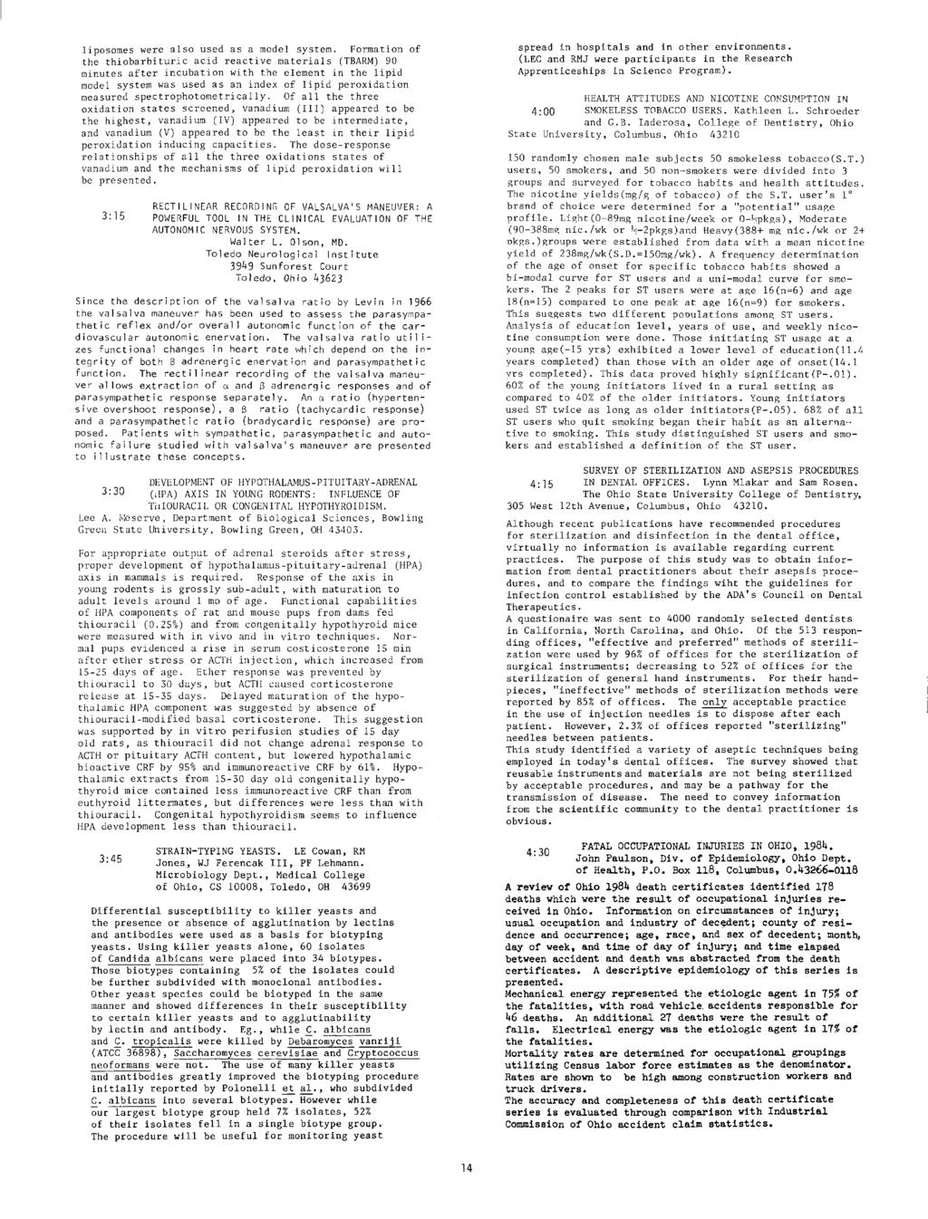 THE OHIO JOURNAL OF SCIENCE - PDF