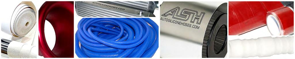 80mm ID 2 Metre Length 1 PLY Black Neoprene Ducting AutoSiliconeHoses