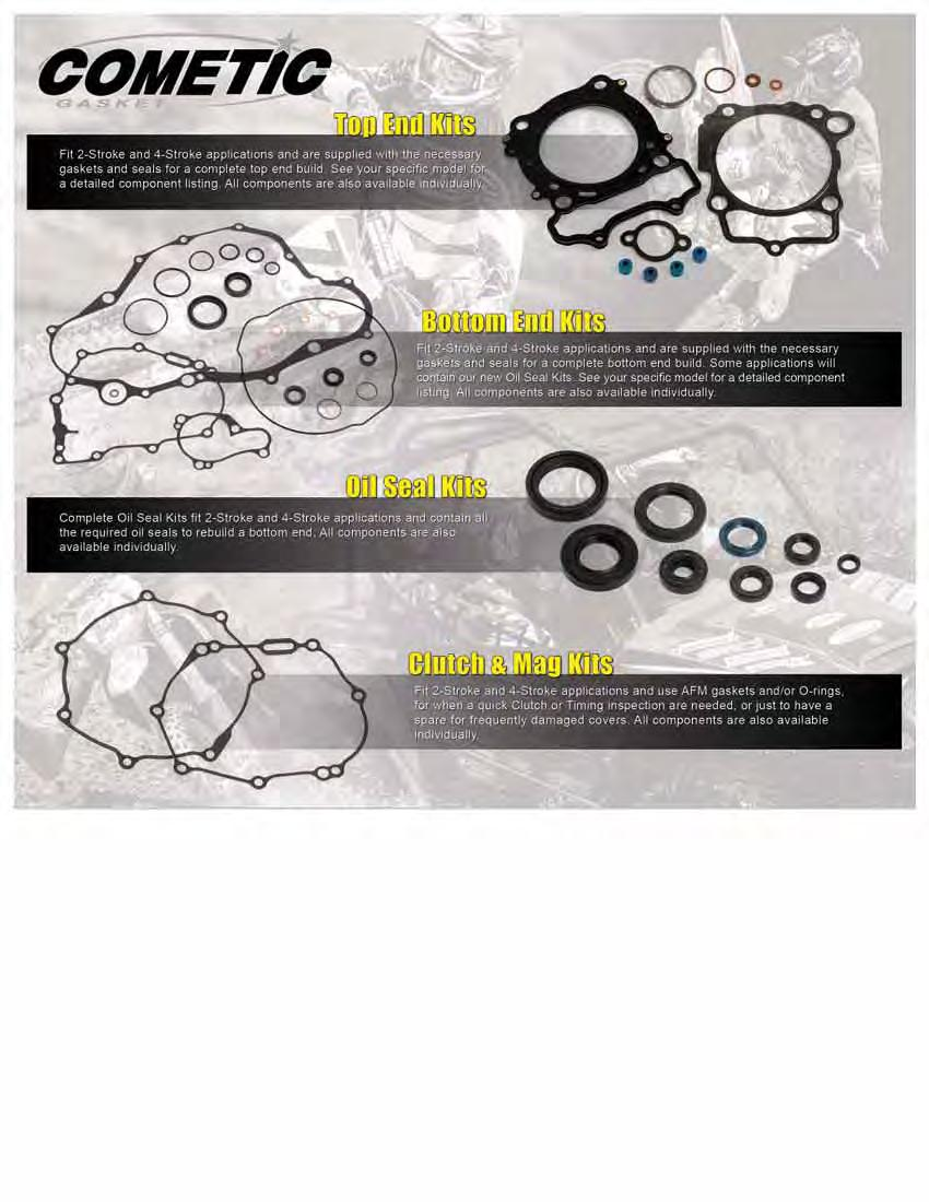 Cometic C3374 Hi-Performance Off-Road Gasket//Seal
