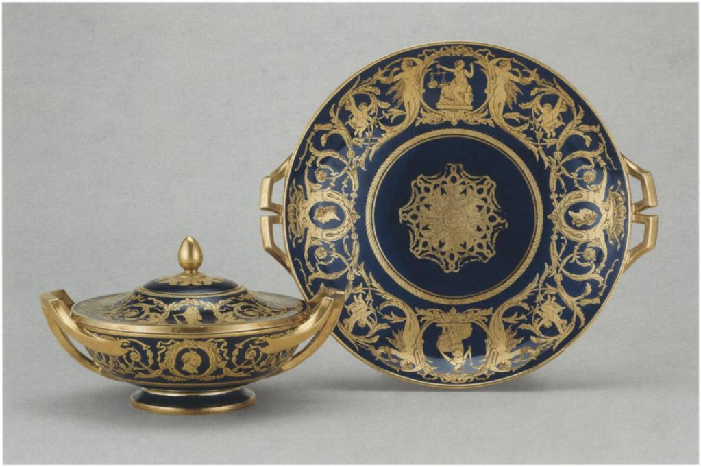 A1 Metal Replica Sevres Porcelain Plateau Of 1766 Wallace Collection London
