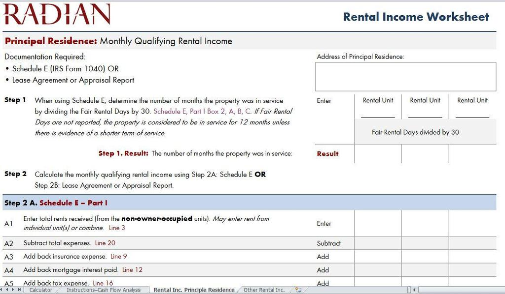 Analyzing Schedule E Rental Income Completing Fnma Forms 1037