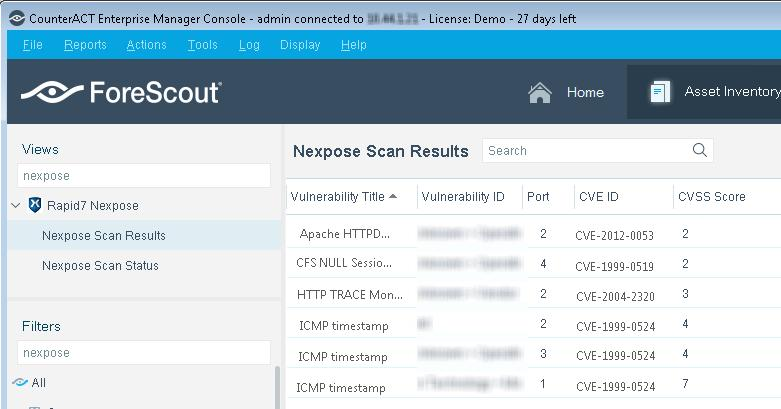 ForeScout Extended Module for Rapid7 Nexpose - PDF