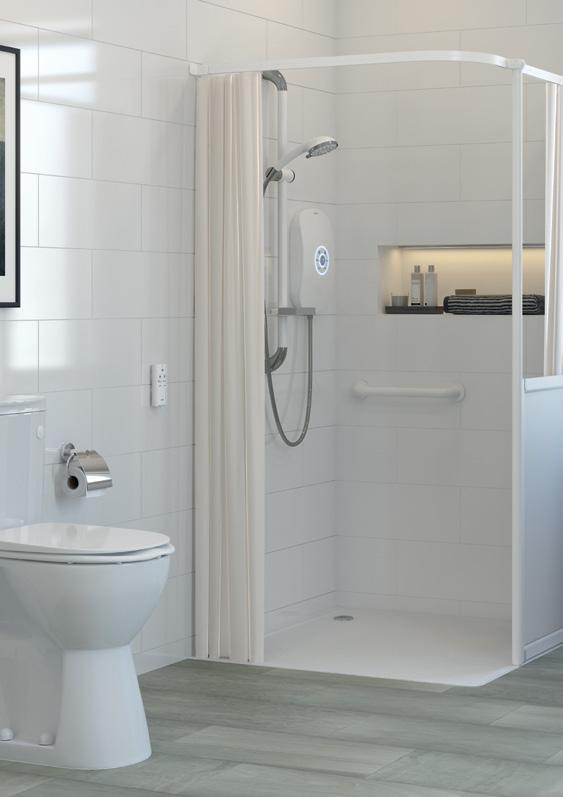 Shower Trays SHOWER TRAYS Braddan Shower Tray With extensive choice and easy installation, Braddan is