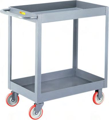 10 x 3-1//2 Pneumatic Wheel Red Little Giant LW-2436-10P Steel Solid Deck Wagon Truck with 1-1//2 Lip 1200 lbs Load Capacity 24 Width x 36 Length