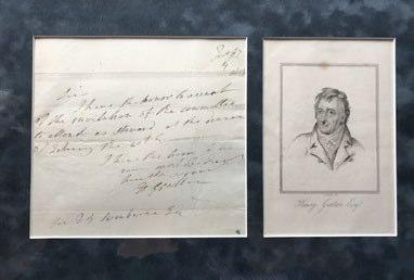 1831 Georgian Dated Print ~ John Philpot Curran Facsimile Signature Long Performance Life Art