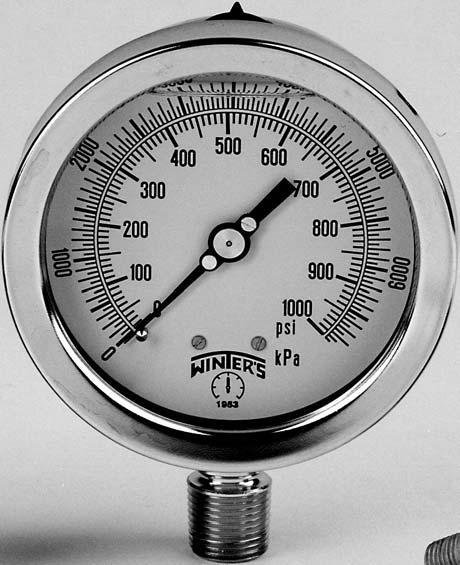 +//- 1.5/% Accuracy 2-1//2 Dial Display 1//4 NPT Center Back Mount 2-1//2 Dial Display 1//4 NPT Center Back Mount PBC913R1 Winters PBC Series Forged Brass Single Scale Pressure Gauge 0-10000 psi