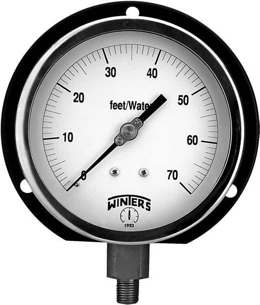 0-1000 psi//kpa 1//4 NPT Bottom Mount 4-1//2 Dial Display 1//4 NPT Bottom Mount PCT293 +//-1/% Accuracy Winters PCT Series Stainless Steel 304 Dual Scale Contractor Pressure Gauge 4-1//2 Dial Display