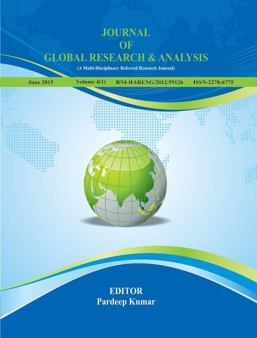 Journal of Global Research & Analysis Volume 4 (1) (A Multi