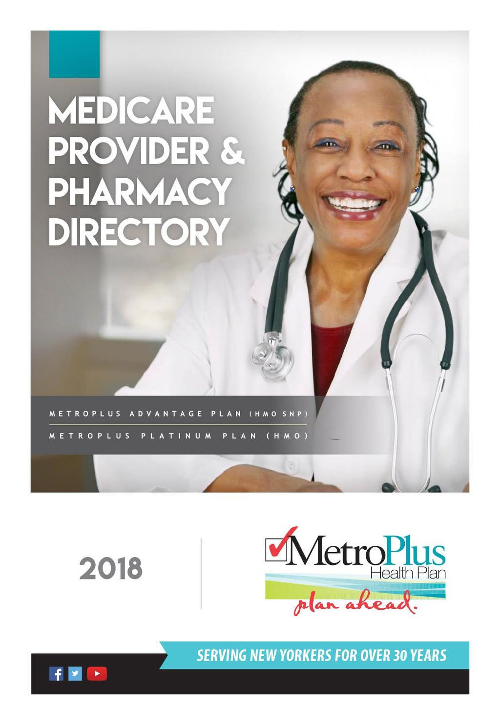MetroPlus Medicare Directory Table of Contents - PDF
