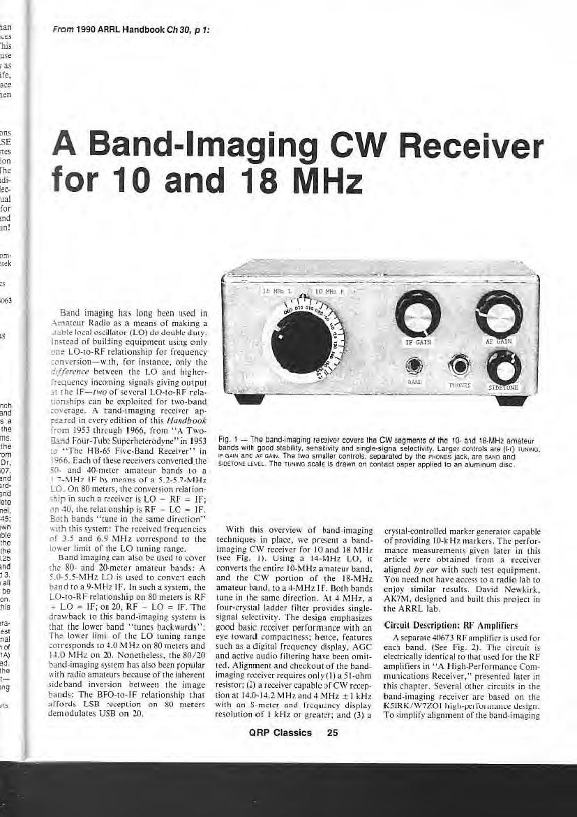 QRR CLASSICS  The Best QRP Projects from QST and the ARRL