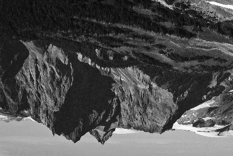 Mt. Cayley, centre (Pyroclastic Peak left). Photo by Simon Chesterton Slesse Mountain.