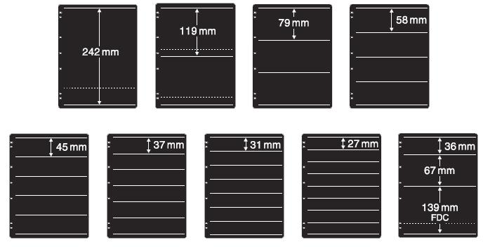 20 Strips New by Lighthouse Publications 210mm x 36mm Lighthouse Brand Clear Split Backed Stamp mounts