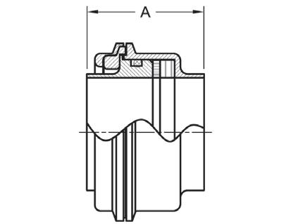 90 degree Elbow 2 2 Steel and Obrien L2CM-2-316 Stainless Steel Weld X Clamp