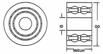 "3/"" NEW GENERIC  BALL BEARING CAGE 7/"" LENGTH I.D 2-1//2/"" O.D"
